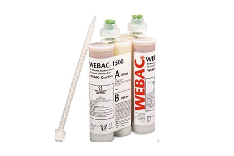 WEBAC 1500 — гибридная, двухкомпонентная полиуретановая смола